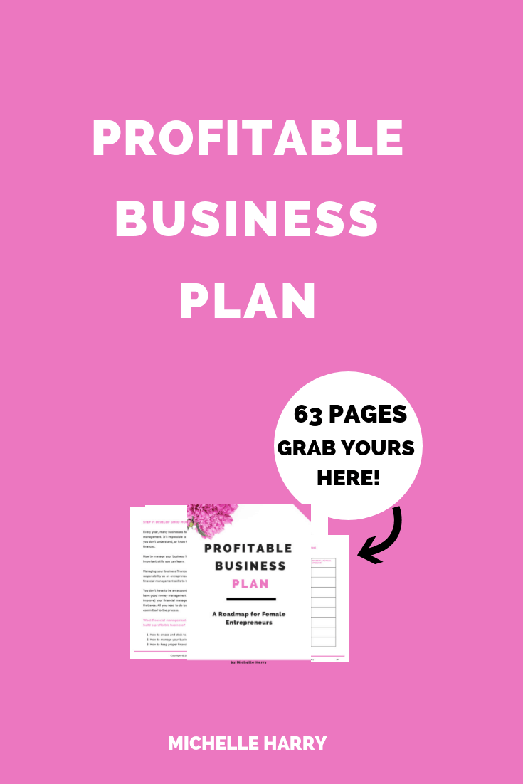Business tips for women. Are you struggling to make money in your business? Do you need help pricing your products for profit? Do you need some ideas to make your business profitable? Check out the Profitable Business Plan: A guide for female entrepreneurs. Tips and strategies to make your business profitable. Learn more.